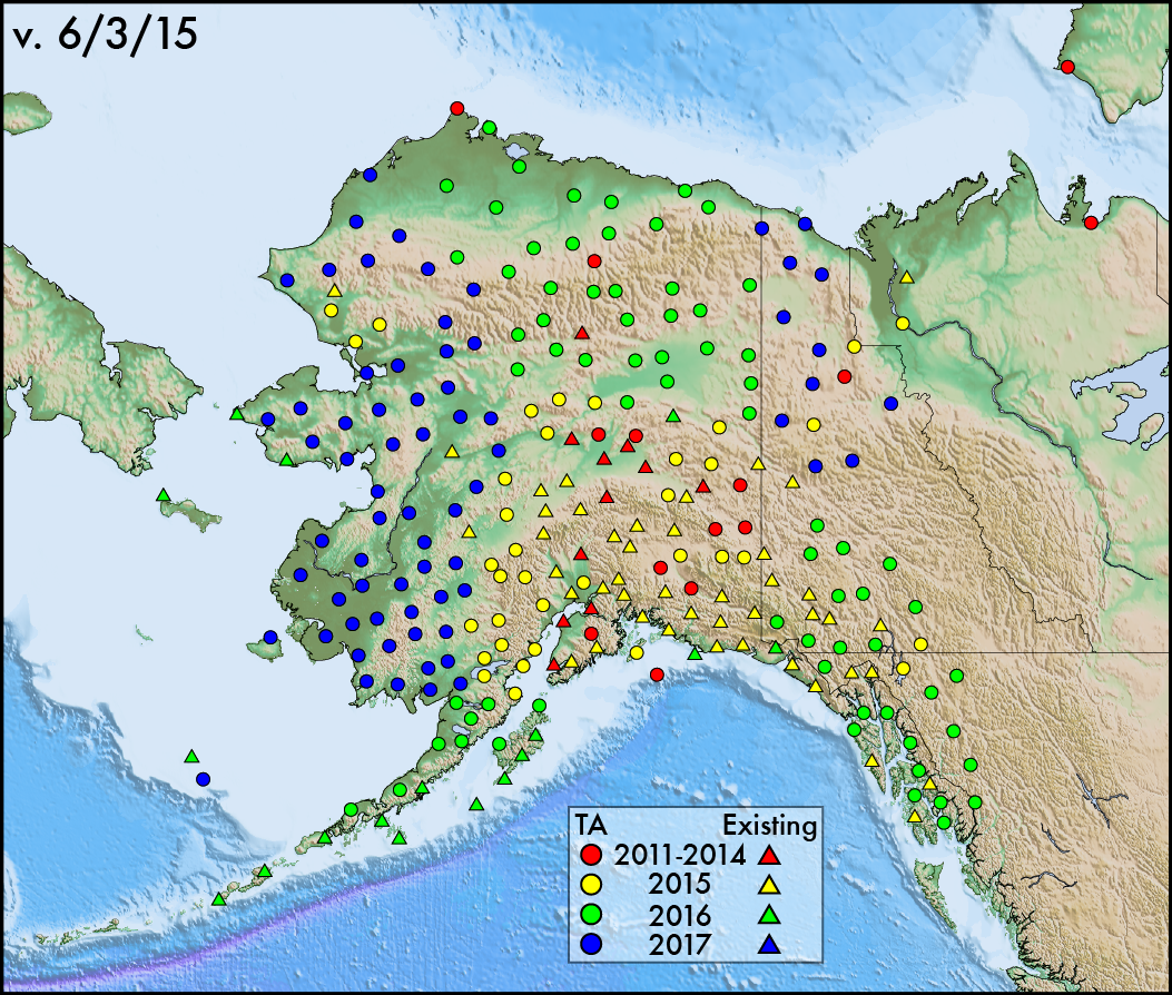 USArray Maps And Schedules - Us map including alaska