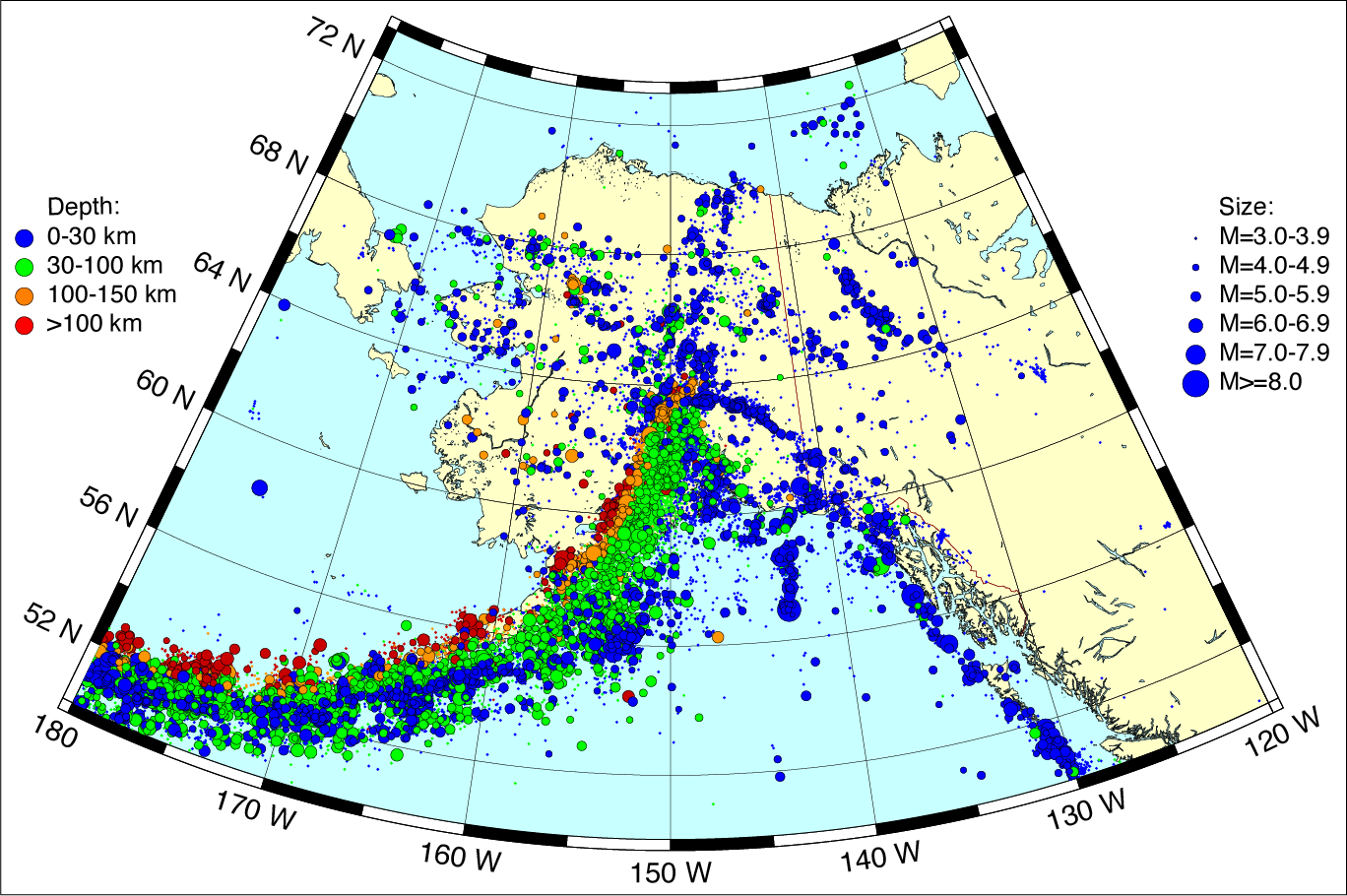 USArray Transportable Array Deployment To Alaska And Western Canada - Map of alaska and canada